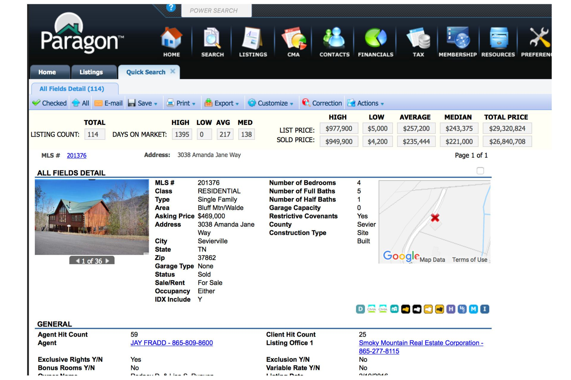 Search Gatlinburg, Pigeon Forge, and Sevierville in the Great Smoky Mountains Association of Realtors MLS Search