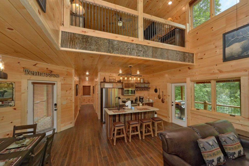 Poolin' Around kitchen. Luxury cabin rental in Pigeon Forge